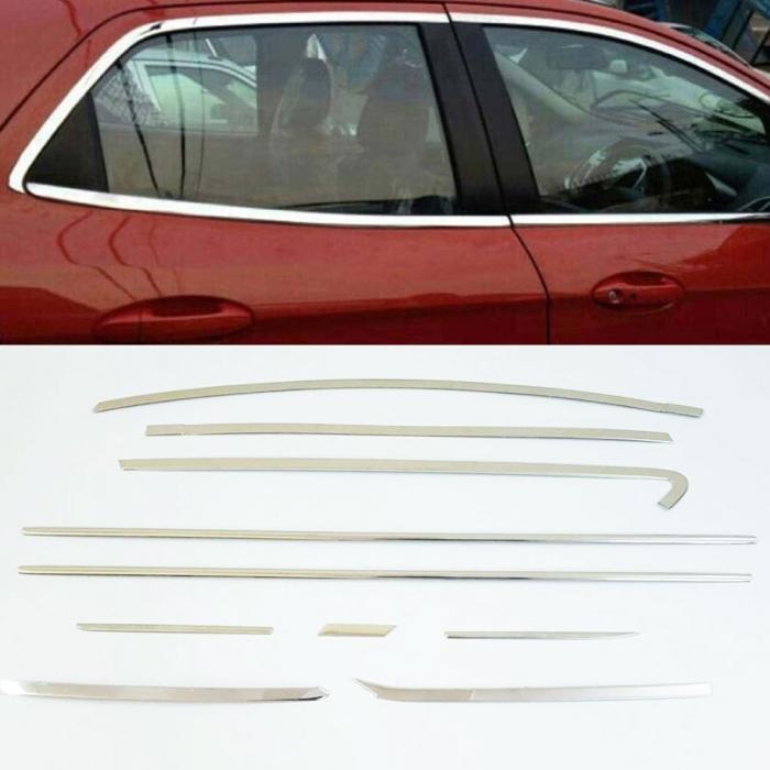 Toyota Innova Crysta Full Window Chrome Garnish Trims (Set Of 20Pcs.)