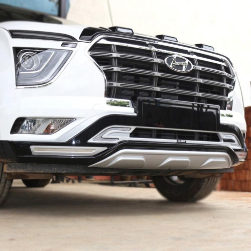 Hyundai New Creta 2020 Front and Rear Bumper Guard Protector Dreamliner Kit in High Quality ABS Material