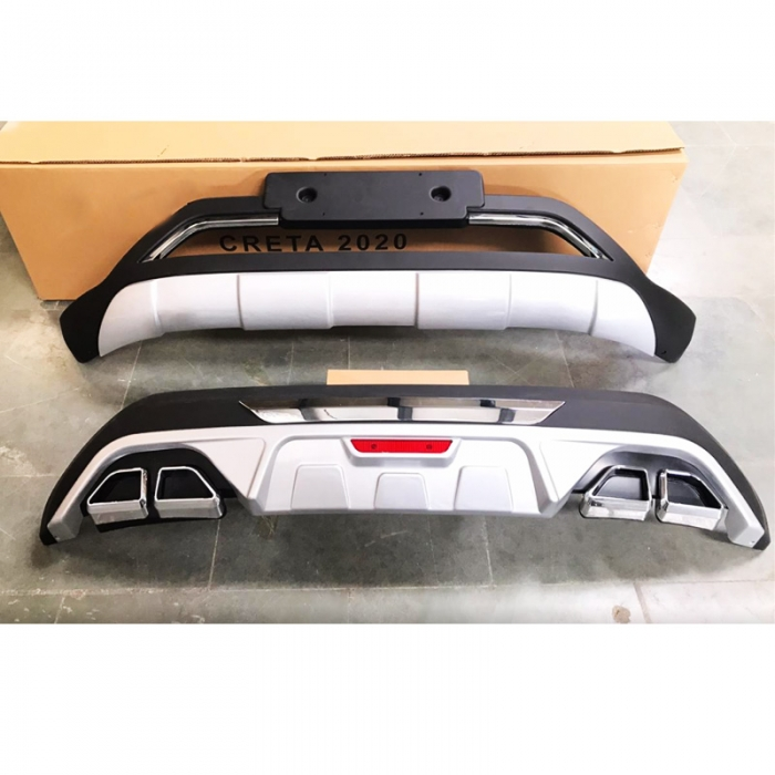 Hyundai Creta 2020 Front and Rear Bumper Guard Protector in High Quality ABS Material