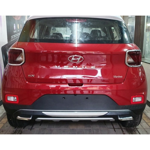 Hyundai Venue Front and Rear Bumper Guard Protector in High Quality ABS Material