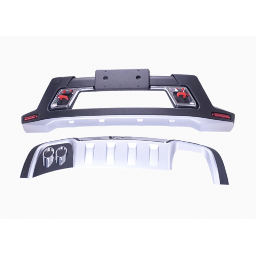 Jeep Compass 2017 Front and Rear Bumper Guard Protector in High Quality ABS Material