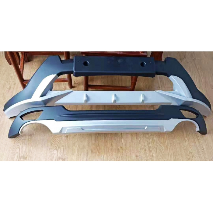 Mahindra XUV500 Front and Rear Bumper Guard Protector in High Quality ABS Material