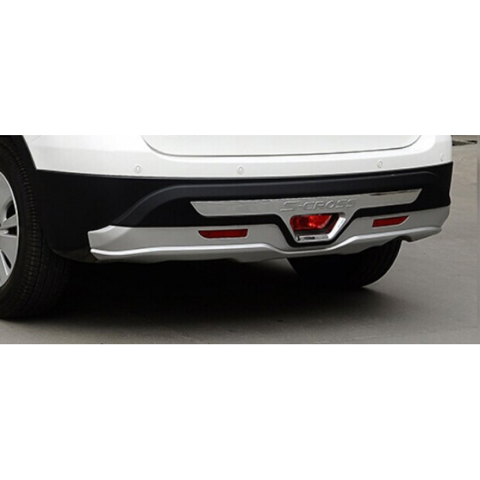 Maruti Suzuki S-Cross Facelift Front and Rear Bumper Guard Protector in High Quality ABS Material