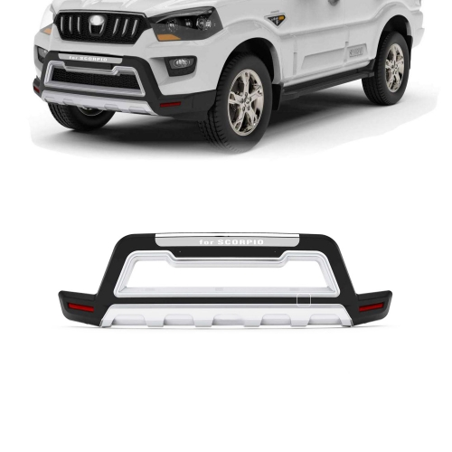 Mahindra Scorpio Front and Rear Bumper Guard Protector in High Quality ABS Material