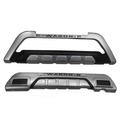 Maruti Suzuki WagonR 2019-2021 Front and Rear Bumper Guard Protector in High Quality ABS Material