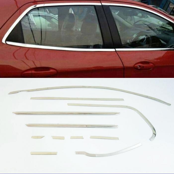 Renault Duster Full Window Chrome Garnish Trims (Set Of 22Pcs.)
