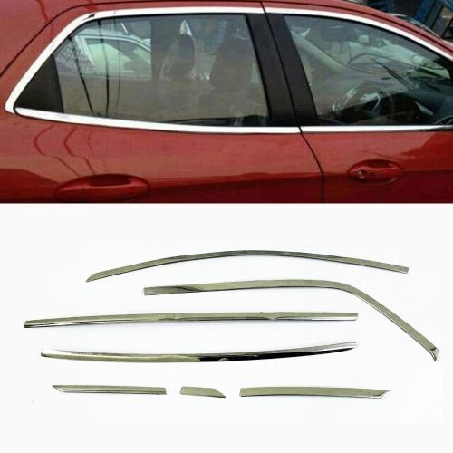 Ford New Ecosport Full Window Chrome Garnish Trims (Set Of 14Pcs.)