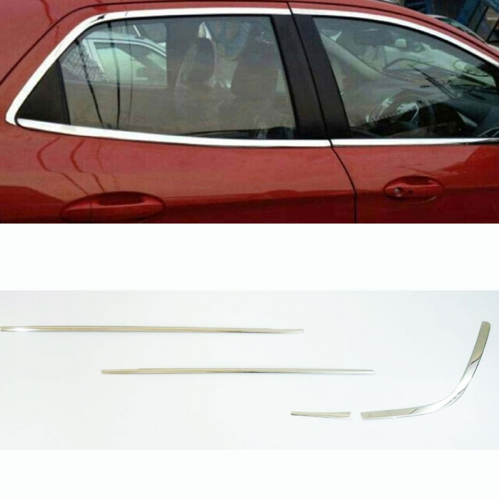 Maruti Suzuki Ertiga 2015 Full Window Chrome Garnish Trims (Set Of 16Pcs.)
