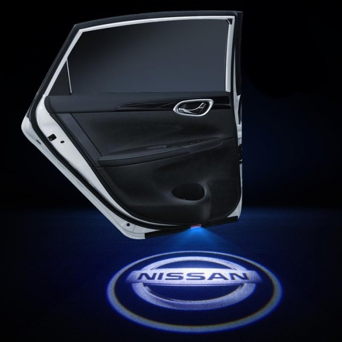Wireless Nissan Logo Shadow Projector Ghost Lights Kit For Nissan Kicks All Models(Set Of 2Pcs.)