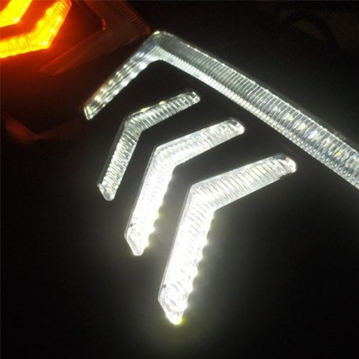 Honda New Amaze 2018 Front LED DRL Daytime Running Light With Matrix Turn Signal by Volmax (Set of 2Pcs.)
