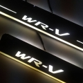 Honda WRV Door Foot LED Mirror Finish Black Glossy Scuff Sill Plate Guards (Set of 4Pcs.)