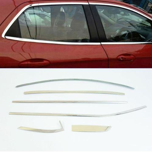 Hyundai i10 Full Window Chrome Garnish Trims (Set Of 12Pcs.)