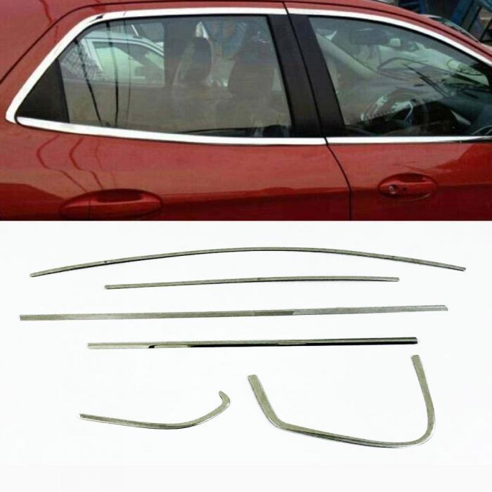 Hyundai i20 Full Window Chrome Garnish Trims (Set Of 12Pcs.)