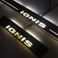 Matrix Moving LED Light Scuff Sill Plate Guards for Maruti Suzuki Ignis (Set of 4Pcs.)