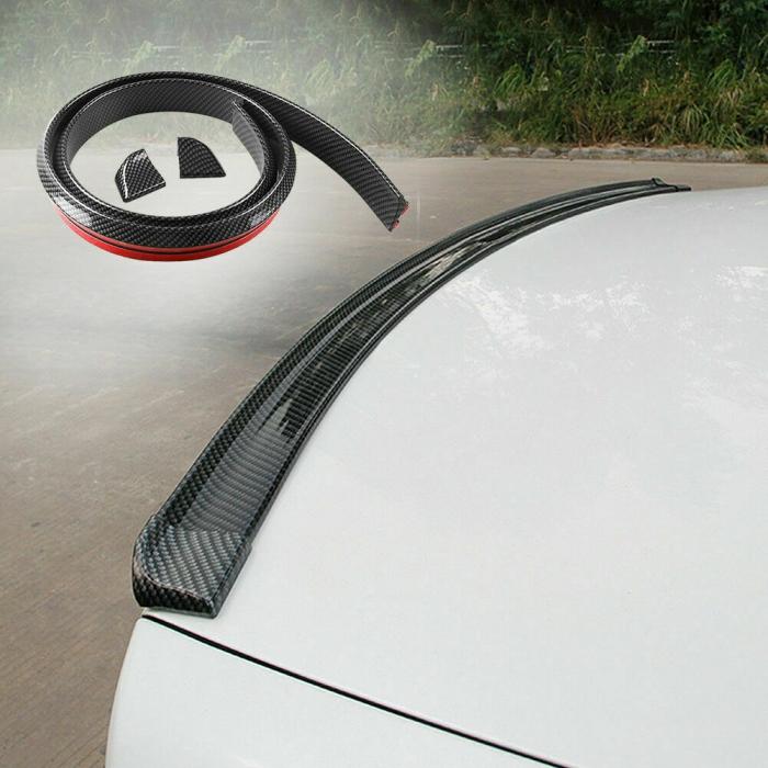Car Rear Roof/Trunk Spoiler Wing Lip For Sedan Car in Glossy Stylish Carbon Fiber Finish
