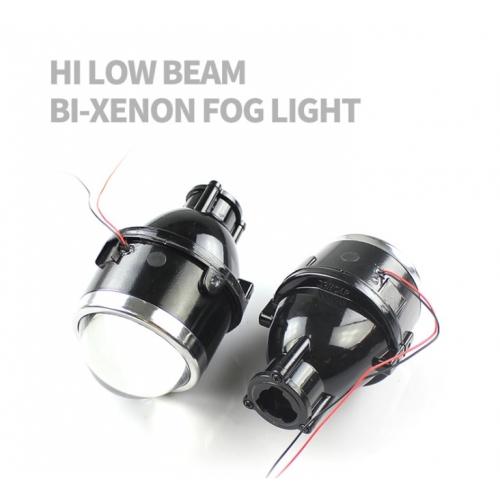 Original iPHCAR Bi-Xenon 3inch Projector Fog Light with CrystalEye HID Hi/Low Beam Conversion Kit Combo