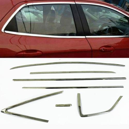 Honda Jazz 2014 Full Window Chrome Garnish Trims (Set Of 14Pcs.)