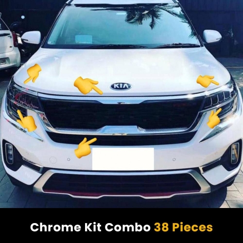 Kia Seltos Exterior Chrome Body Show Kit Combo (Set of 38 Pcs.)