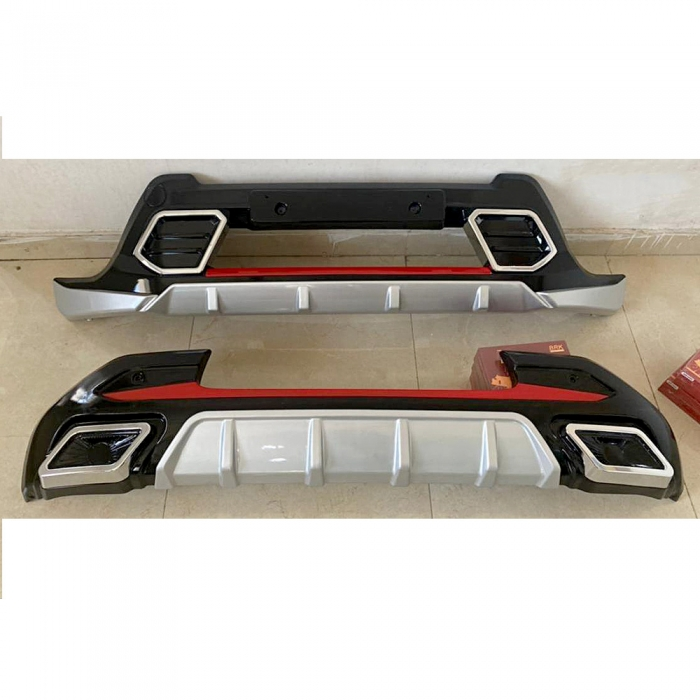 Kia Sonet Front and Rear Bumper Guard Protector in High Quality ABS Material