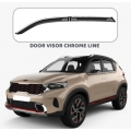 Car Window Door Visor With Chrome Line For Kia Sonet (Imported)