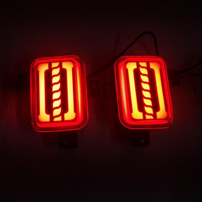 Mahindra Thar 2020 Bumper LED Reflector Lights With Matrix Moving Style (Set of 2Pcs.)