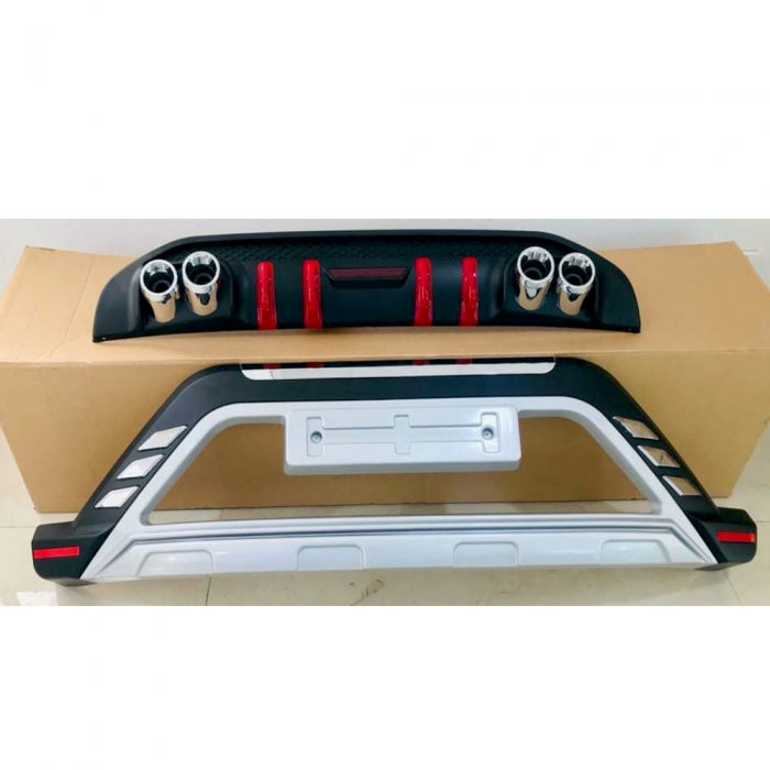Mahindra XUV300 Front and Rear Bumper Guard Protector in High Quality ABS Material