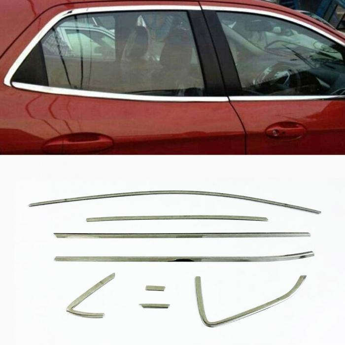 Volkswagen Polo Full Window Chrome Garnish Trims (Set Of 16Pcs.)