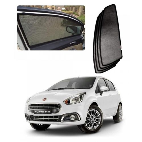 Car Window Magnetic Sunshade For Fiat Punto Evo Set Of 4