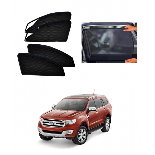 Car Window Magnetic Sunshade For Ford New Endeavour (zipper)