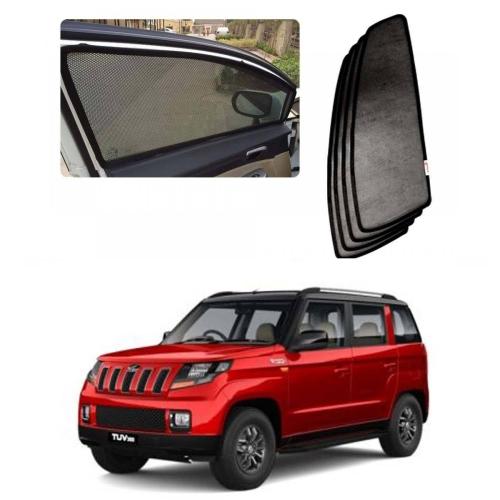 Car Window Magnetic Sunshade For Mahindra Tuv 300 Set Of 6