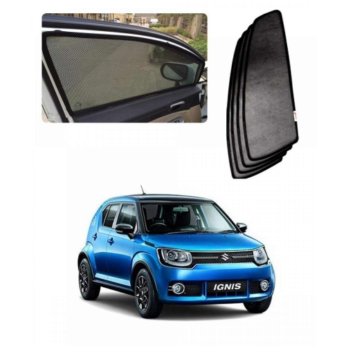 Car Window Magnetic Sunshade For Maruti Suzuki Ignis Set Of 4