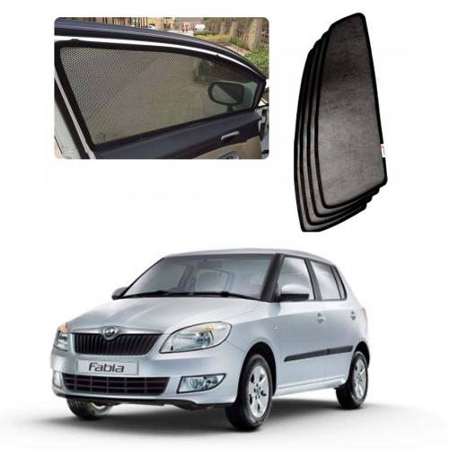 Car Window Magnetic Sunshade For Skoda Fabia Set Of 4