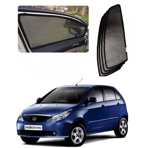 Car Window Magnetic Sunshade For Tata Indica Vista Set Of 4