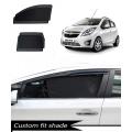 Chevrolet Beat Custom Fit Car Window Fixed Sun Shades - Set of 4