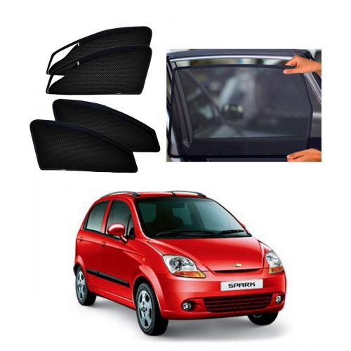 Chevrolet Spark Car Zipper Magnetic Window Sun Shades Set Of 4