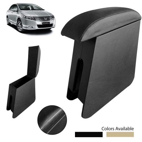 Custom Fitted Wooden Car Center Console Hand Armrest for Honda City ivTec 2009 All Models