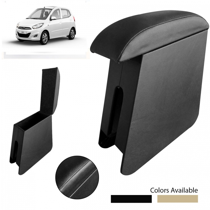 Custom Fitted Wooden Car Center Console Hand Armrest for Hyundai i10 Old All Models