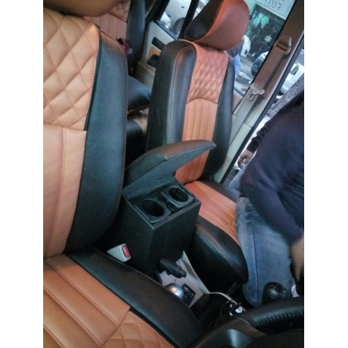 Custom Fitted Wooden Car Center Console Hand Armrest for Mahindra Scorpio All Models