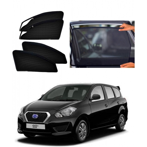 Datsun Go Plus Car Zipper Magnetic Window Sun Shades Set Of 4