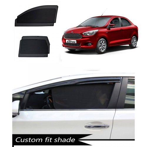 Ford Figo Aspire Custom Fit Car Window Fixed Sun Shades - Set of 4