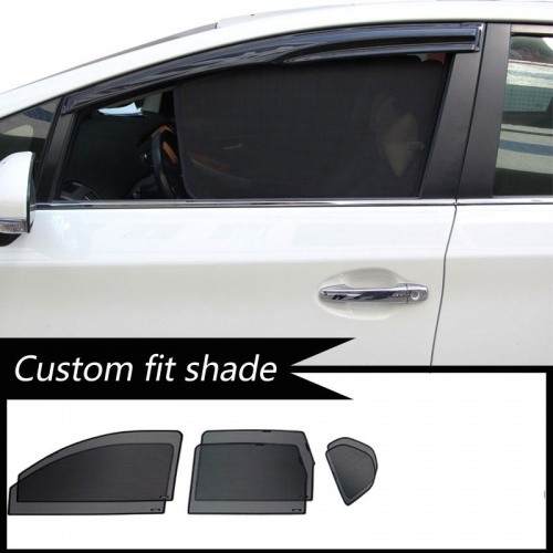 Ford New Endeavour Custom Fit Car Window Fixed Sun Shades - Set of 6