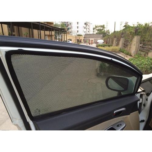 Honda Amaze Car Zipper Magnetic Window Sun Shades Set Of 4