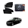 Honda City Idtech 2014-2020 Car Zipper Magnetic Window Sun Shades Set Of 4