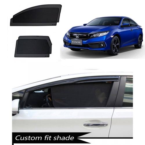 Honda New Civic 2018 Custom Fit Car Window Fixed Sun Shades - Set of 4