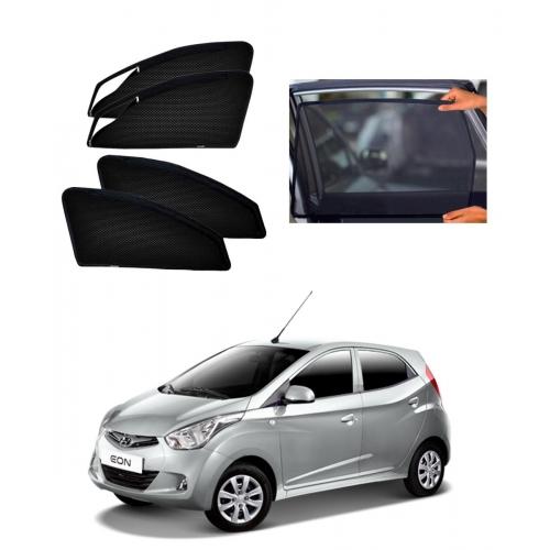 Hyundai Eon Car Zipper Magnetic Window Sun Shades Set Of 4
