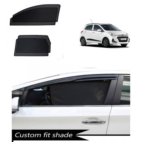 Hyundai Grand i10 Custom Fit Car Window Fixed Sun Shades - Set of 4