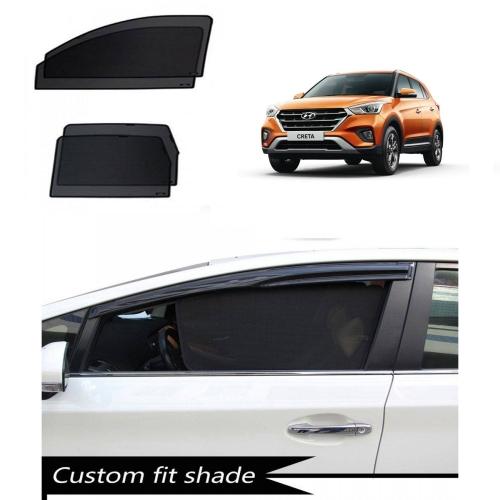 Hyundai New Creta 2018 Custom Fit Car Window Fixed Sun Shades - Set of 4