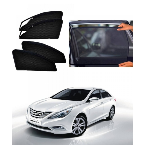 Hyundai Sonata Car Zipper Magnetic Window Sun Shades (Set of 4Pcs.)
