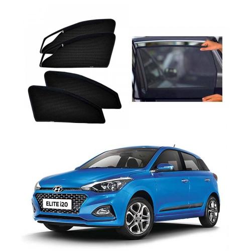 Hyundai i20 Elite New Car Zipper Magnetic Window Sun Shades Set Of 4