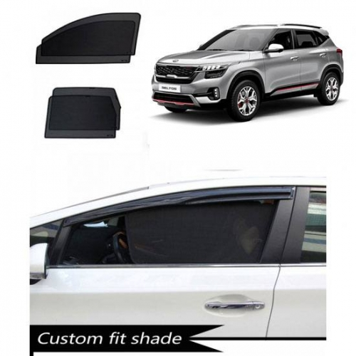 Kia Seltos Custom Fit Car Window Fixed Sun Shades - Set of 4